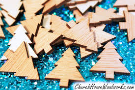 wooden ornaments snowflake