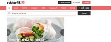 meilleur site de cuisine liste des sur la cuisine les recettes