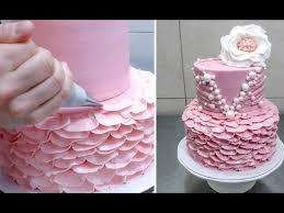 Cake Icing Design Ideas Best 20 Buttercream Ruffle Cake Ideas On Pinterest Ruffle Cake