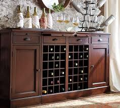 Buffet Bar Cabinet Modular Bar Buffet With 2 Wine Grid Bases 2 Cabinets Pottery Barn