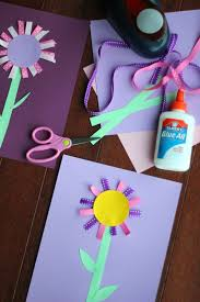 toddler approved colorful ribbon flower craft for kids