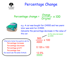 percentage change corbettmaths