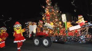 christmas light parade floats a holiday bright spot perham s parade of lights perham focus