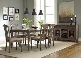 candlewood weather gray extendable rectangular leg dining table