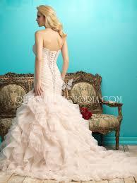 blush colored organza strapless sweetheart princess mermaid