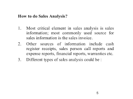 Financial Analysis Report Sles by Sales Cost Analysis