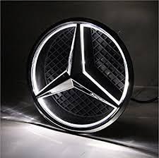 mercedes car emblem amazon com azisen car front grille emblem led logo for