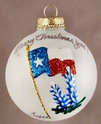 painted ornaments state flag with bluebonnets