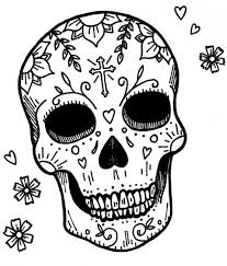 Get This Sugar Skull Coloring Pages Free For Adults 18960 Sw Coloring Page