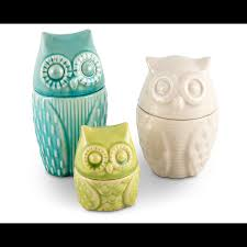 hoot for cheeky and cute u2013owl canister group in small medium and