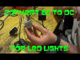 how to convert to led lights how to convert ac to dc for dirt bike led lights youtube