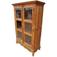 Bookcases With Glass Bookcase Mission Solid Oak Bookcase With Glass Door Wooden