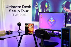 ultimate desk setup tour early 2015 youtube