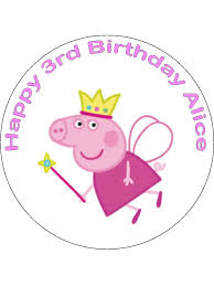 Edible Cake Decorating Paper Peppa Pig Edible Cake Decoration Icing Rice Paper Can Be Personalised