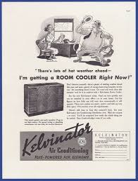 vintage 1937 kelvinator air conditioning room cooler rare print ad