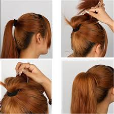 ponytail bump bump up inserts hair comb hair clip styler bumpits ponytail