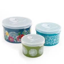Food Storage Container Sets - the pioneer woman round food storage with vent container set set