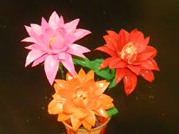 creative diy crafts dahlia flowers with waste water bottles
