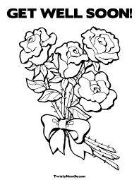 well soon coloring pages for kids