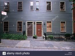 brooklyn house a wood frame house in brooklyn heights new york stock photo