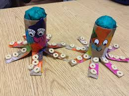 toddler crafts toilet paper roll octopus brew toddler group