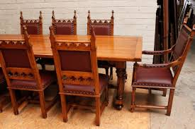 Gothic Dining Room Table by Dining Room Table 8 Chairs Marceladick Com