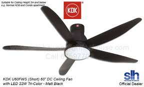 60 ceiling fan with light free install kdk u60fw 60 dc led ceiling fan matt black