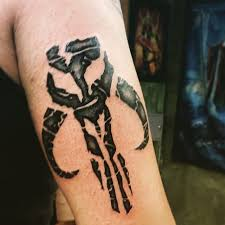 mandalorian tattoo star wars bounty hunter logo tattoo www