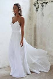 spaghetti wedding dress beautiful a line lace white spaghetti straps wedding
