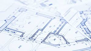 architectural plans pliers and architectural plan of the modern house stock footage