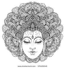Royalty Free Stock Photos And Images Buddha Face Over Ornate Buddhist Coloring Pages