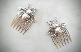 decorative hair combs bee hair comb silver bee hair combs bee hair clip silver bee