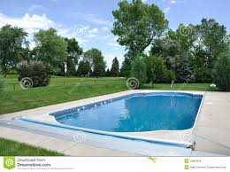 backyard in ground swimming pool royalty free stock images image