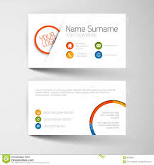 modern business card template with flat user interface royalty