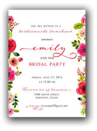 bridesmaids luncheon invitation bridesmaids luncheon floral calvert collection