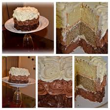 i had fun making this 3 layer rose cake the layers are chocolate