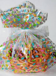 cello wrap for gift baskets easter jelly beans plastic cellophane basket gift wrap bag easter