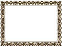 home design certificate border vector png clipart best