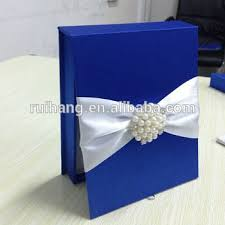 navy blue luxury wedding cards box invitation with buy