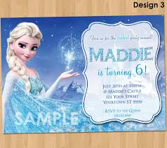 amazing frozen disney birthday invitations 44 for your card