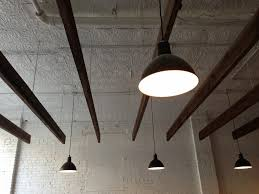 industrial led shop lights deep bowl pendants add industrial feel to classic barbershop blog