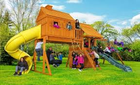 fantasy tree house swing set d best in backyards