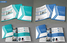 bi fold corporate brochure v64 brochure templates creative market