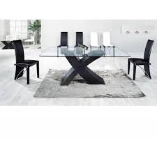 black glass dining table 6 chairs gallery dining