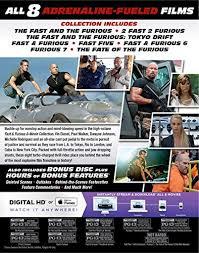 amazon com fast u0026 furious 8 movie collection blu ray vin