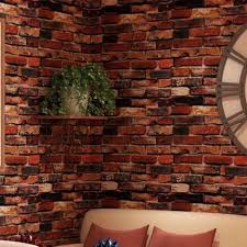 3d red brick wallpaper roll retro stone brick wall background