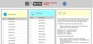 Change Table Name Mysql Mysql Drag And Drop Record Sorting Php Script Php Database