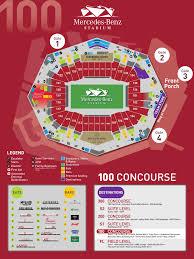 Atl Map Stadium Maps Mercedes Benz Stadium