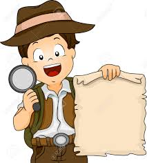 Treasure Map Clipart Illustration Of A Boy In Camping Gear Holding A Treasure Map