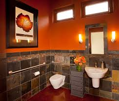 Brown Bathroom Colors - bathroom grey and orange living room home design ideas